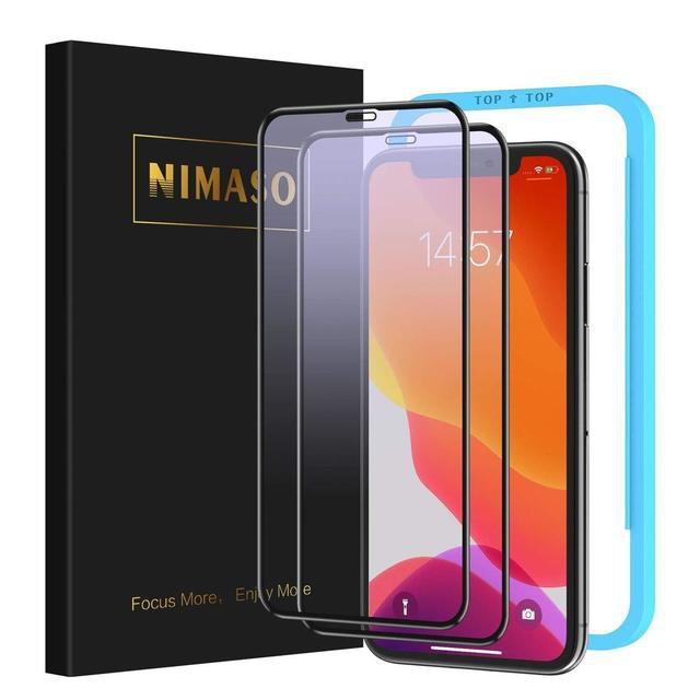NIMASO(ニマソ) iPhone XR/iPhone11 ガラスフィルム ブルーライトカット フルカバー