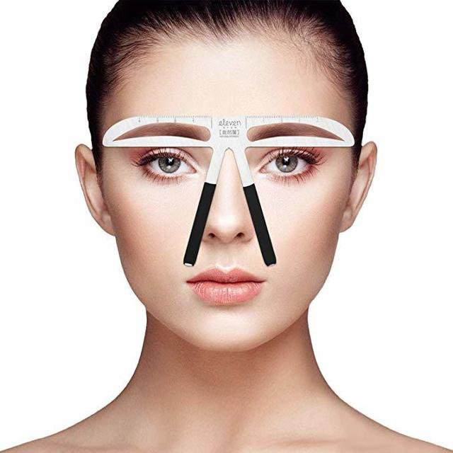 ELEVEN EVER眉毛の定規DIYの美しさの眉のテンプレート(自然)